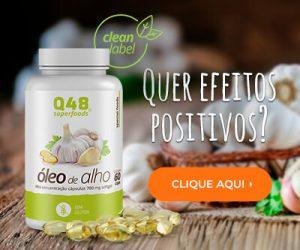 Quer Efeitos Positivos? Consuma Óleo de Alho em Capsulas da Q48 SuperFoods. Clique Aqui!